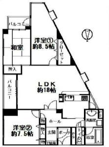 ライオンズマンション帝塚山